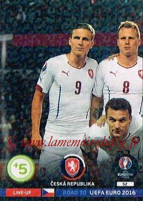 Panini Road to Euro 2016 Cards - N° 052 - Equipe République Tchèque 1