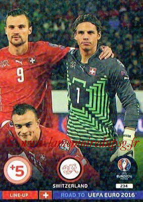 Panini Road to Euro 2016 Cards - N° 234 - Equipe Suisse 3