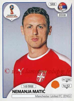 2018 - Panini FIFA World Cup Russia Stickers - N° 424 - Nemanja MATIC (Serbie)