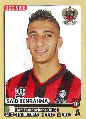 2015-16 - Panini Ligue 1 Stickers - N° 333 - Saïd BENRAHMA (OGC Nice)
