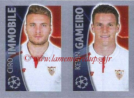 2015-16 - Topps UEFA Champions League Stickers - N° 277 - Ciro IMMOBILE + Kevin GAMEIRO (FC Seville)