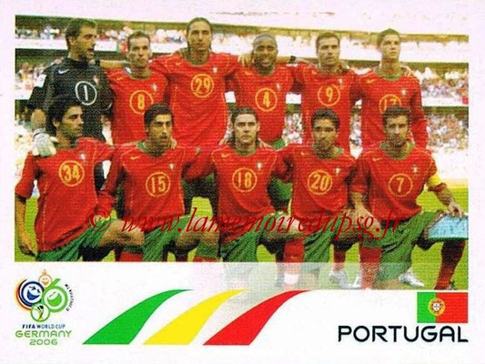 2006 - Panini FIFA World Cup Germany Stickers - N° 282 - Équipe Portugal