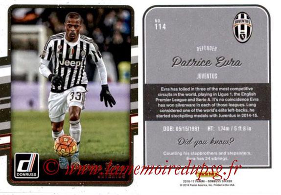2016 - Panini Donruss Cards - N° 114 - Patrice EVRA (Juventus FC)
