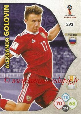 2018 - Panini FIFA World Cup Russia Adrenalyn XL - N° 292 - Aleksandr GOLOVIN (Russie)