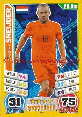 Topps Match Attax England 2014 - N° 176 - Wesley SNEIJDER (Pays-Bas)