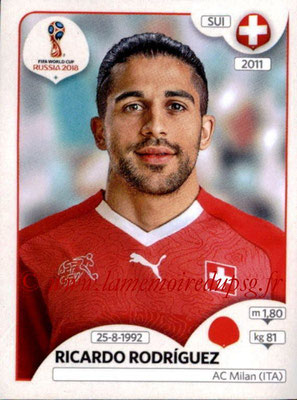 2018 - Panini FIFA World Cup Russia Stickers - N° 378 - Ricardo RODRIGUEZ (Suisse)
