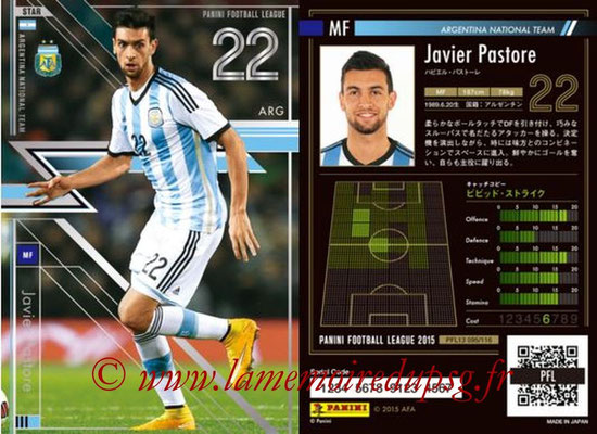 Panini Football League 2015 - PFL13 - N° 095 - Javier PASTORE (Argentine) (Star)