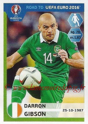 Panini Road to Euro 2016 Stickers - N° 151 - Darron GIBSON (Eire)