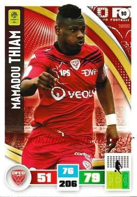 2016-17 - Panini Adrenalyn XL Ligue 1 - N° 090 - Mamadou THIAM (Dijon)