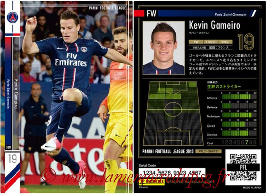 Panini Football League 2013 - PFL01 - N° 099 - Kevin Gameiro ( Paris Saint-Germain )