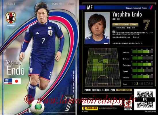 Panini Football League 2014 - PFL06 - N° 140 - Yasuhito ENDO (Japon) (Star +)