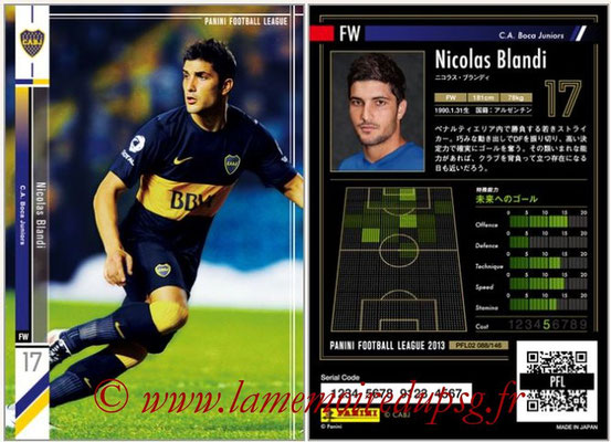 Panini Football League 2013 - PFL02 - N° 088 - Nicolas Blandi ( C.A. Boca Juniors )