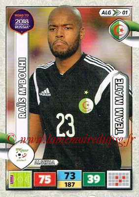 2018 - Panini Road to FIFA World Cup Russia Adrenalyn XL - N° ALG01 - Raïs M'BOLHI (Algérie)