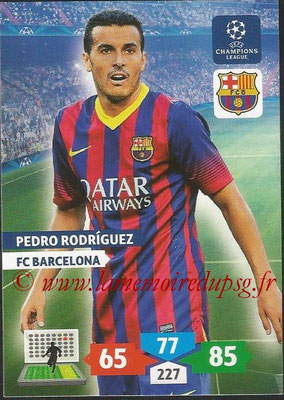2013-14 - Adrenalyn XL champions League N° 070 - Pedro RODRIGUEZ (FC Barcelone)