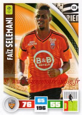 2016-17 - Panini Adrenalyn XL Ligue 1 - N° 138 - Faïz SELEMANI (Lorient)