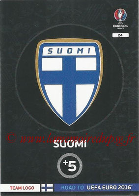 Panini Road to Euro 2016 Cards - N° 024 - Ecusson Finlande