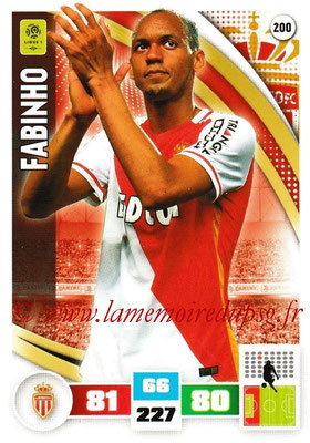 2016-17 - Panini Adrenalyn XL Ligue 1 - N° 200 - FABINHO (Monaco)