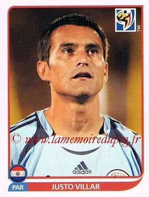 2010 - Panini FIFA World Cup South Africa Stickers - N° 431 - Justo VILLAR (Paraguay)
