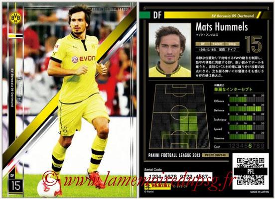 Panini Football League 2013 - PFL02 - N° 098 - Mats Hummels ( BV Borussia 09 Dortmund )