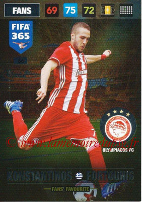 2016-17 - Panini Adrenalyn XL FIFA 365 - N° 066 - Konstantinos FORTOUNIS (Olympiacos FC) (Fans' Favourite)