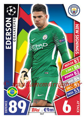 2017-18 - Topps UEFA Champions League Match Attax - N° NS07 - EDERSON (Manchester City FC) (New Signings)
