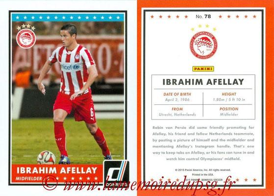 2015 - Panini Donruss Soccer - N° 078 - Ibrahim AFELLAY (Olympiacos FC)