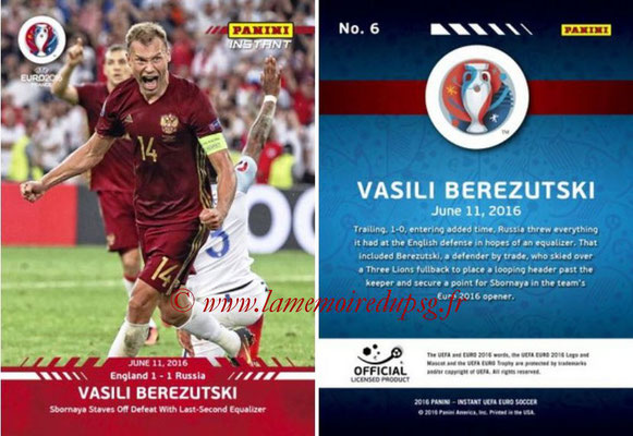 Panini Instant Euro 2016 - N° 006 - Vasili BEREZUTSKI