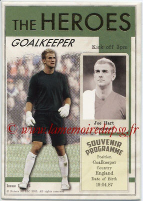 2013 - Futera World Football Unique - N° HER02 - Joe HART (Angleterre) (Goalkeeper) (The Heroes)