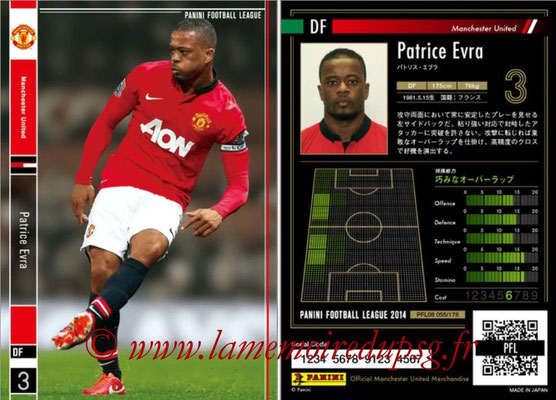 Panini Football League 2014 - PFL08 - N° 055 - Patrice EVRA (Manchester United)