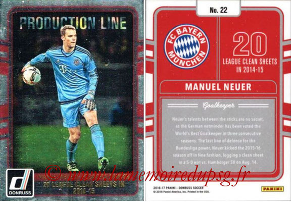2016 - Panini Donruss Cards - N° PL22 - Manuel NEUER (FC Bayern Munich) (Production Line)