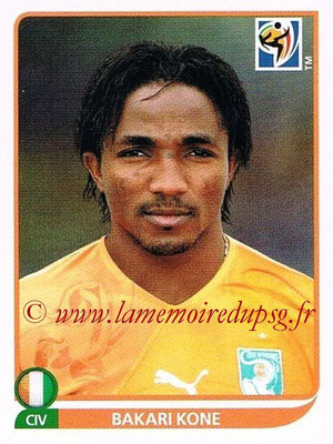 2010 - Panini FIFA World Cup South Africa Stickers - N° 540 - Bakari KONE (Côte d'Ivoire)