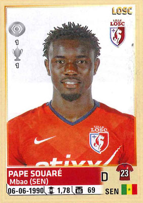 2014-15 - Panini Ligue 1 Stickers - N° 155 - Pape SOUARE (Lille OSC)