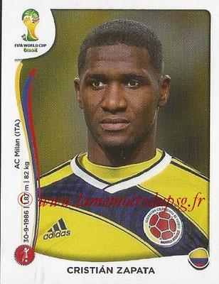2014 - Panini FIFA World Cup Brazil Stickers - N° 188 - Cristian ZAPATA (Colombie)