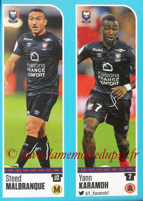 2016-17 - Panini Ligue 1 Stickers - N° 142 + 143 - Steed MALBRANQUE + Yann KARAMOH (Caen)