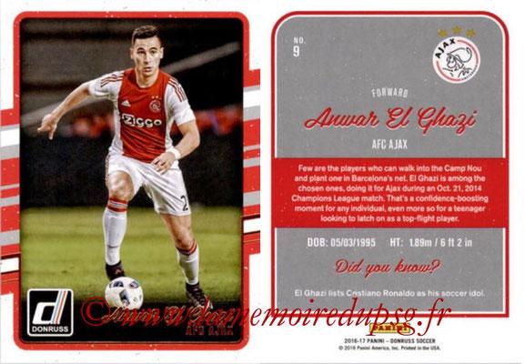 2016 - Panini Donruss Cards - N° 009 - Anwar EL GHAZI (AFC Ajax)