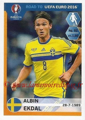 Panini Road to Euro 2016 Stickers - N° 346 - Albin EKDAL (Suède)