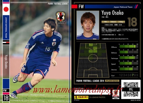Panini Football League 2014 - PFL06W - N° 022 - Yuya OSAKO (Japon)