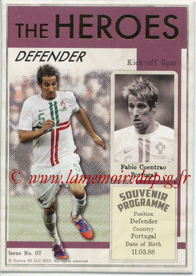 2013 - Futera World Football Unique - N° HER07 - Fabio COENTRAO (Portugal) (Defender) (The Heroes)