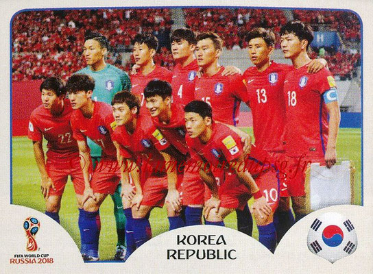 2018 - Panini FIFA World Cup Russia Stickers - N° 493 - Equipe Corée du Sud