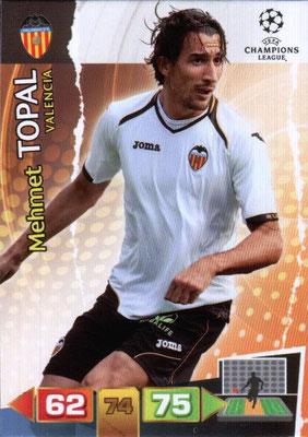 2011-12 - Panini Champions League Cards - N° 254 - Mehmet TOPAL (FC Valence)