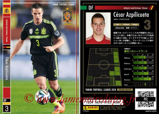 Panini Football League 2014 - PFL08 - N° 110 - César AZPILICUETA (Espagne)