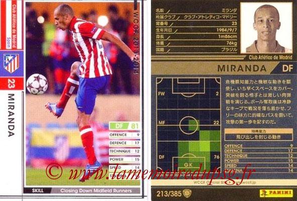 2013-14 - WCCF - N° 213 - MIRANDA (Atletico Madrid)
