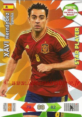 2014 - Panini Road to FIFA World Cup Brazil Adrenalyn XL - N° 082 - Xabi HERNANDEZ (Espagne) (Star Player)
