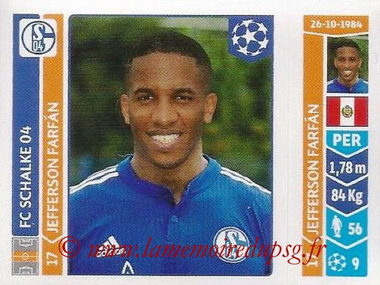 2014-15 - Panini Champions League N° 523 - Jefferson FARFAN (FC Schalke 04)