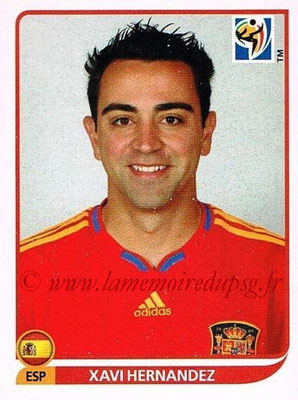 2010 - Panini FIFA World Cup South Africa Stickers - N° 573 - Xavi HERNANDEZ (Espagne)