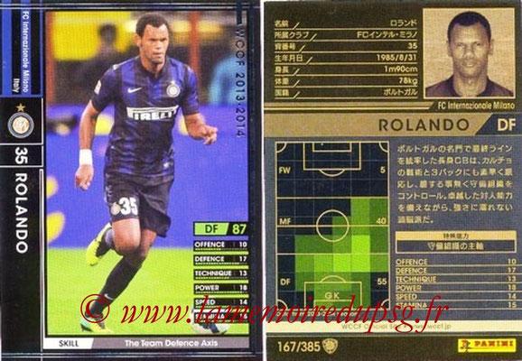 2013-14 - WCCF - N° 167 - ROLANDO (Inter Milan)