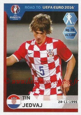 Panini Road to Euro 2016 Stickers - N° 135 - Tin JEDVAJ (Croatie)