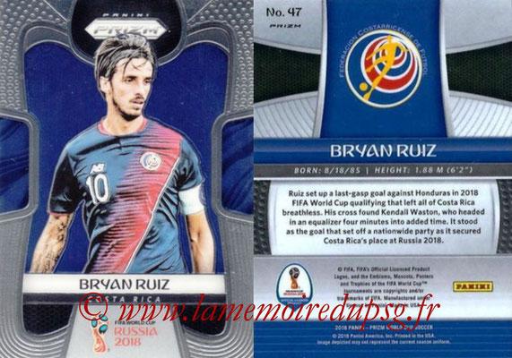 2018 - Panini Prizm FIFA World Cup Russia - N° 047 - Bryan RUIZ (Costa Rica)