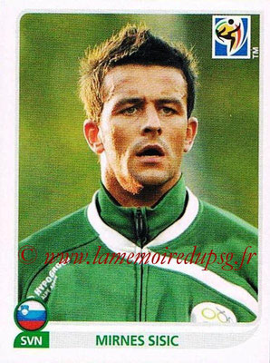2010 - Panini FIFA World Cup South Africa Stickers - N° 252 - Mirnes SISIC (Slovenie)