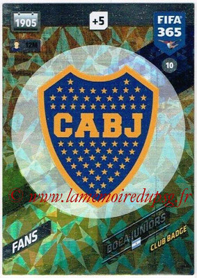 2017-18 - Panini FIFA 365 Cards - N° 010 - Logo Boca Juniors (Club Badge)